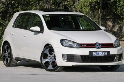 2012 Volkswagen Golf VI MY12.5 GTI DSG White 6 Speed Sports Automatic Dual Clutch Hatchback Ferntree Gully Knox Area Preview