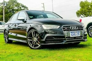 2015 Audi S3 8V MY15 S Tronic Quattro Black 6 Speed Sports Automatic Dual Clutch Sedan Wangara Wanneroo Area Preview