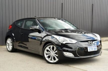 2011 Hyundai Veloster FS Coupe D-CT Black 6 Speed Sports Automatic Dual Clutch Hatchback Midvale Mundaring Area Preview