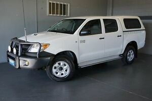 2007 Toyota Hilux KUN26R 07 Upgrade SR (4x4) White 5 Speed Manual Dual Cab Pick-up Woodridge Logan Area Preview