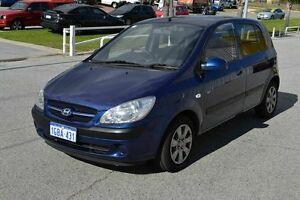 2008 Hyundai Getz 1.6 LOW LOW KILOMETRES Blue 4 Speed Automatic Hatchback East Rockingham Rockingham Area Preview