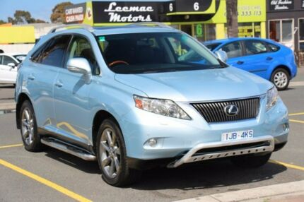 2009 Lexus RX350 GGL15R Sports Luxury Silver Blue 6 Speed Sports Automatic Wagon Heatherton Kingston Area Preview