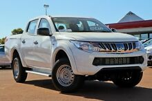 2016 Mitsubishi Triton MQ MY16 GLX Double Cab White 5 Speed Sports Automatic Utility Wilson Canning Area Preview