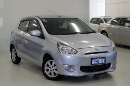 2013 Mitsubishi Mirage LA MY14 Sport Silver 1 Speed Constant Variable Hatchback Myaree Melville Area Preview