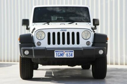 2017 Jeep Wrangler JK MY17 Unlimited Sport White 5 Speed Automatic Softtop Canning Vale Canning Area Preview