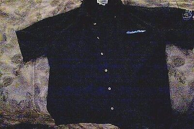 Hudson News Group Retail Employee Uniform Shirt Blue Short Sleeve Size L Large