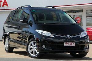 2012 Toyota Tarago ACR50R MY09 GLX Black/Grey 4 Speed Sports Automatic Wagon Woolloongabba Brisbane South West Preview