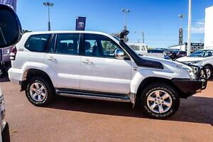 2008 Toyota Landcruiser Prado KDJ120R GX White 5 Speed Automatic Wagon Westminster Stirling Area Preview