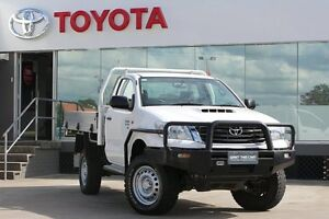 2013 Toyota Hilux KUN26R MY14 SR (4x4) Glacier White 5 Speed Automatic Cab Chassis Old Guildford Fairfield Area Preview