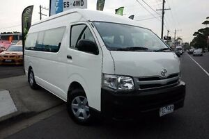 2011 Toyota Hiace KDH223R MY11 Commuter High Roof Super LWB White 4 Speed Automatic Bus Dandenong Greater Dandenong Preview