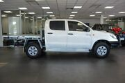 2013 Toyota Hilux KUN26R MY12 SR Double Cab White 5 Speed Manual Cab Chassis Bellevue Swan Area Preview