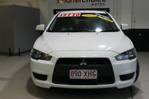 2012 Mitsubishi Lancer CJ LX Sportback White 6 Speed Continuous Variable Hatchback