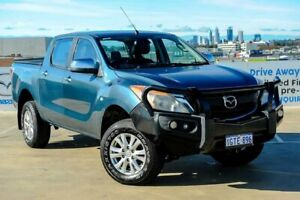 2012 Mazda BT-50 UP0YF1 GT Gunmetal Blue 6 Speed Sports Automatic Utility Osborne Park Stirling Area Preview