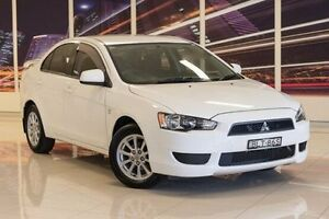 2009 Mitsubishi Lancer CJ MY10 RX White 5 Speed Manual Sedan Blacktown Blacktown Area Preview