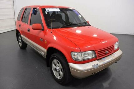 1998 Kia Sportage (4x4) Red 4 Speed Automatic Wagon