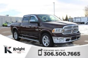 2015 Ram 1500 Laramie 4X4! Low KMs!  Command Start!