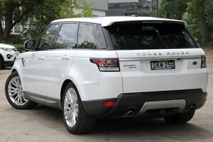 2014 Land Rover Range Rover LW Sport 3.0 SDV6 HSE White 8 Speed Automatic Wagon Petersham Marrickville Area Preview