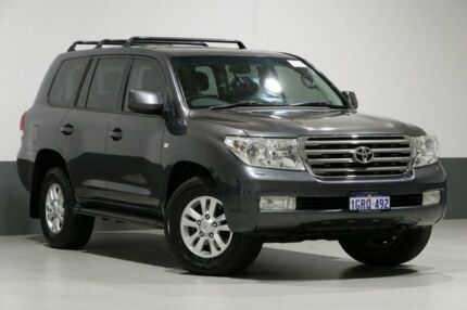 2008 Toyota Landcruiser UZJ200R Sahara (4x4) Graphite 5 Speed Automatic Wagon Bentley Canning Area Preview