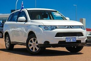 2013 Mitsubishi Outlander ZJ MY13 ES 2WD White 6 Speed Constant Variable Wagon East Rockingham Rockingham Area Preview
