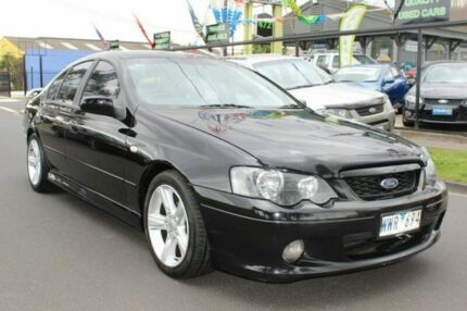 2005 Ford Falcon BA Mk II XR6 Black 4 Speed Sports Automatic Sedan