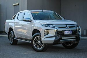 2018 Mitsubishi Triton MR MY19 GLS Double Cab Premium White Diamond 6 Speed Sports Automatic Utility