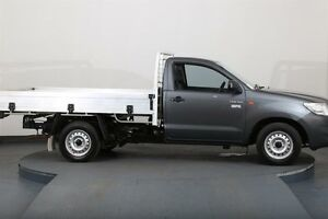 2013 Toyota Hilux TGN16R MY12 Workmate Grey 5 Speed Manual Cab Chassis Smithfield Parramatta Area Preview