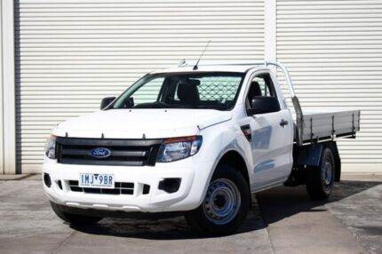 2012 Ford Ranger PX XL 4x2 White 6 Speed Manual Utility