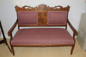 Antique Settee (Love Seat) and chair