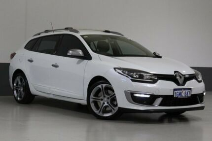 2015 Renault Megane K95 MY14 GT 220 White 6 Speed Manual Sportswagon Bentley Canning Area Preview