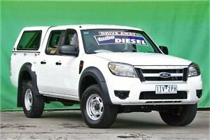 2011 Ford Ranger PK XL Crew Cab Hi-Rider White 5 Speed Automatic Utility Ringwood East Maroondah Area Preview