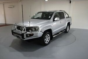 2013 Volkswagen Amarok 2H MY13 TDI400 4Mot Highline Silver 6 Speed Manual Utility Cooee Burnie Area Preview
