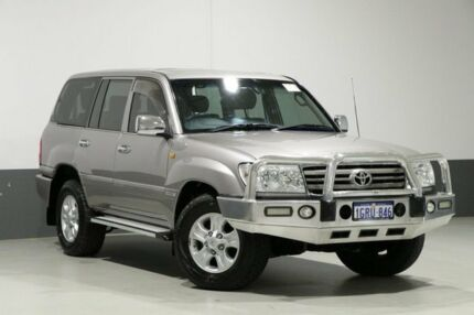 2007 Toyota Landcruiser UZJ100R VX (4x4) Silver 5 Speed Automatic Wagon Bentley Canning Area Preview