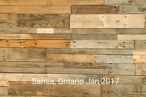 Accent Wall, Reclaimed Barnboard, Palletwood, Rustic Decor, DIY
