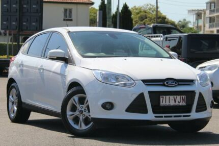 2014 Ford Focus LW MKII MY14 Trend PwrShift White 6 Speed Sports Automatic Dual Clutch Hatchback Nundah Brisbane North East Preview