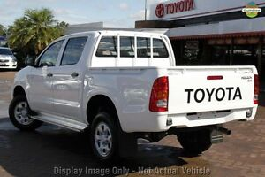 2009 Toyota Hilux KUN26R MY10 SR White 5 Speed Manual Utility Northbridge Perth City Area Preview
