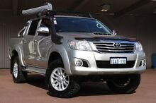 2014 Toyota Hilux KUN26R MY14 SR5 Double Cab Silver 5 Speed Manual Utility Northbridge Perth City Preview