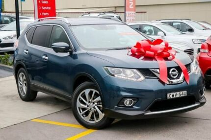 2015 Nissan X-Trail T32 Ti X-tronic 4WD Blue 7 Speed Constant Variable Wagon