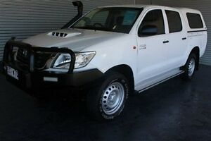 2014 Toyota Hilux KUN26R MY14 SR Double Cab White 5 Speed Automatic Cab Chassis Parramatta Park Cairns City Preview