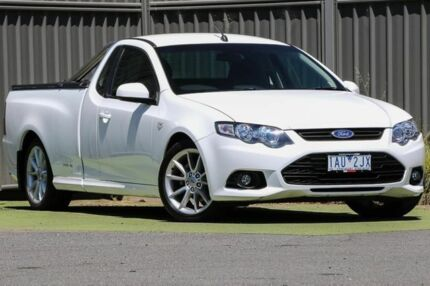 2012 Ford Falcon FG MkII XR6 Ute Super Cab White 6 Speed Sports Automatic Utility Wantirna South Knox Area Preview