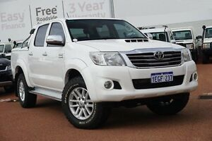 2013 Toyota Hilux KUN26R MY12 SR5 Double Cab White 4 Speed Automatic Utility Westminster Stirling Area Preview