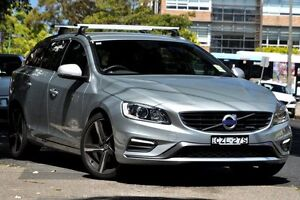 2014 Volvo V60 F Series MY15 T5 Geartronic R-Design Electric Silver 8 Speed Sports Automatic Wagon Mosman Mosman Area Preview