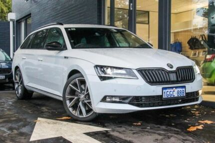 2017 Skoda Superb NP MY17 206TSI DSG SportLine White 6 Speed Sports Automatic Dual Clutch Wagon Victoria Park Victoria Park Area Preview