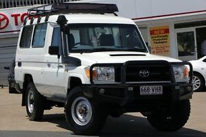 2010 Toyota Landcruiser VDJ78R MY10 Workmate Troopcarrier White 5 Speed Manual Wagon Woolloongabba Brisbane South West Preview