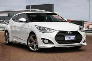 2013 Hyundai Veloster FS2 SR Coupe Turbo White 6 Speed Sports Automatic Hatchback East Rockingham Rockingham Area Preview