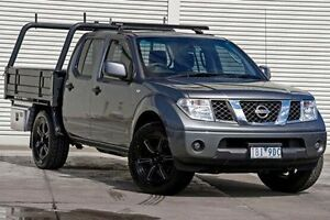 2012 Nissan Navara D40 S7 MY12 RX Grey 6 Speed Manual Cab Chassis Seaford Frankston Area Preview