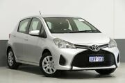 2017 Toyota Yaris NCP130R MY15 Ascent Silver 4 Speed Automatic Hatchback Bentley Canning Area Preview