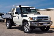 2015 Toyota Landcruiser VDJ79R GXL White 5 Speed Manual Cab Chassis Wangara Wanneroo Area Preview