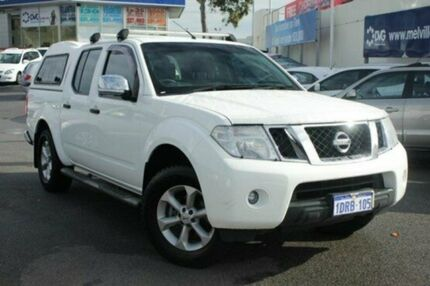 2010 Nissan Navara D40 ST-X White 5 Speed Automatic Utility Myaree Melville Area Preview