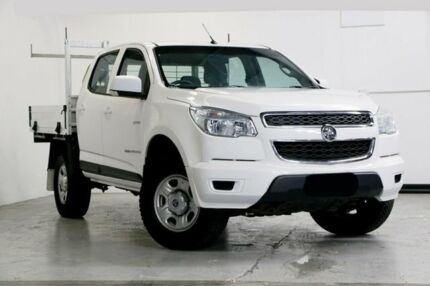 2014 Holden Colorado RG MY15 LS Crew Cab 4x2 White 6 Speed Manual Cab Chassis Capalaba Brisbane South East Preview