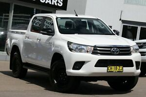 2016 Toyota Hilux GUN126R SR (4x4) White 6 Speed Automatic Dual Cab Utility Dee Why Manly Area Preview